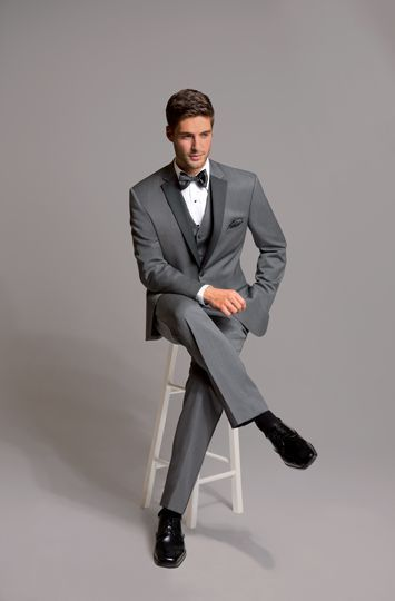 New WOOL MICHAEL KORS GRAY CHARCOAL SLIM FIT TUXEDO SUIT COAT & PANT GREY ALLURE #Tuxedo