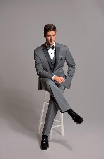 New WOOL MICHAEL KORS GRAY CHARCOAL SLIM FIT TUXEDO SUIT COAT & PANT GREY ALLURE #Tuxedo