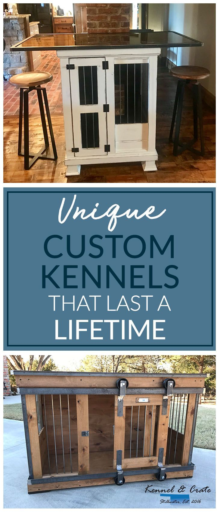 Designer indoor single dog kennels! Replace your wire dog crate with a beautiful piece of functional furniture! Great conversation piece that can be used as an entertainment center, console table, entry table, credenza, buffet, kitchen island or laundry room folding table! #Kennelandcrate  #Customorders #Stylishdogkennel #dogkennel