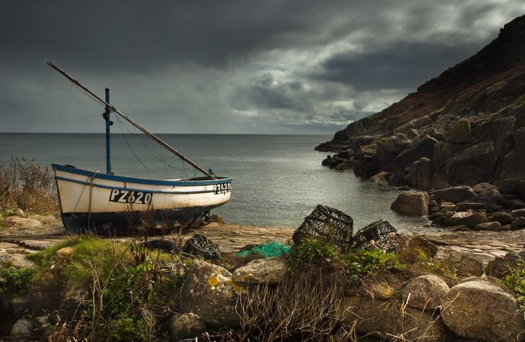 Boat on Cornish coastline by Wayne Brittle #photography