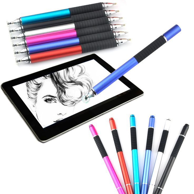 10PCS/lot Fine Point Round Thin Tip Capacitive Pen Tablet Stylus Pen For iPhone 7 iPad 2/3/4/air/mini 2 in 1 with ballpoint pen