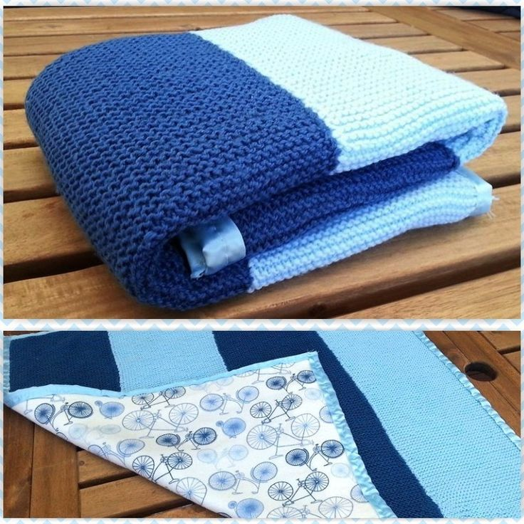 Knitting Without Needles Blanket : This is a very easy modern baby blanket for beginners