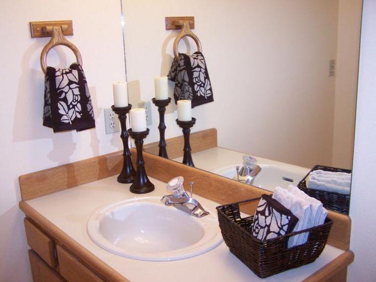 Staged bathroom staging pinterest for Bathroom staging ideas