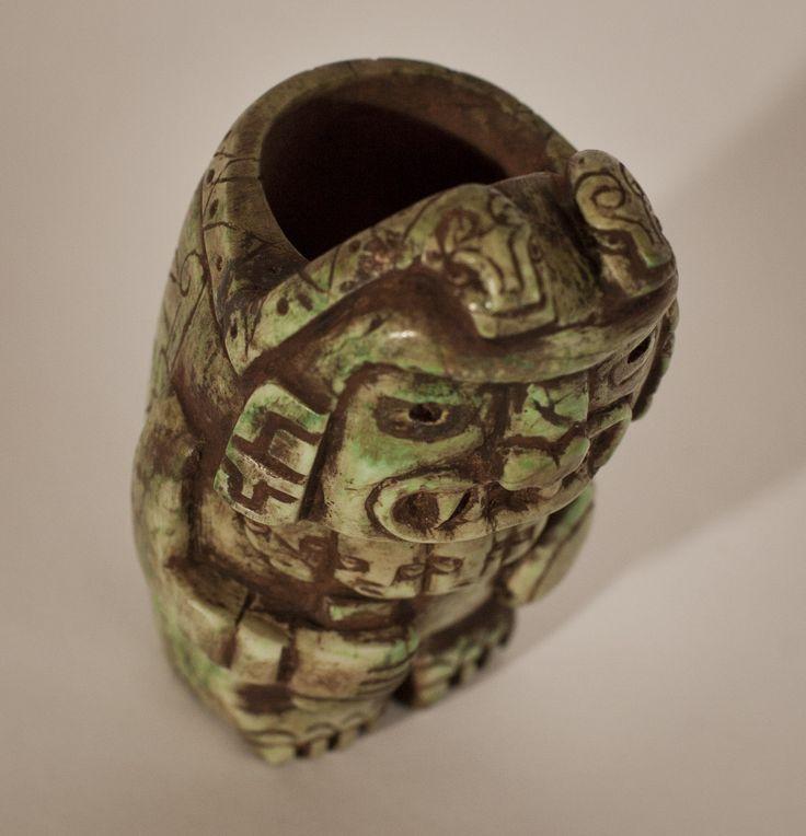 Chrysocolla Chavin Tembladera ritual blood cup