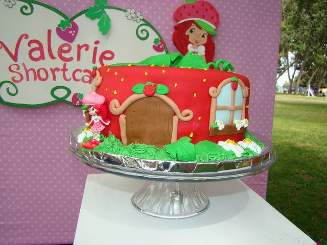 Cake at a Strawberry Shortcake Party #strawberryshortcake #cake