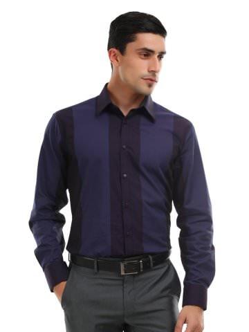 V Dot Men Purple and Blue Striped Shirt | Myntra via @Myntra.com PRODUCT CODE: 104742  Rs. 2,099