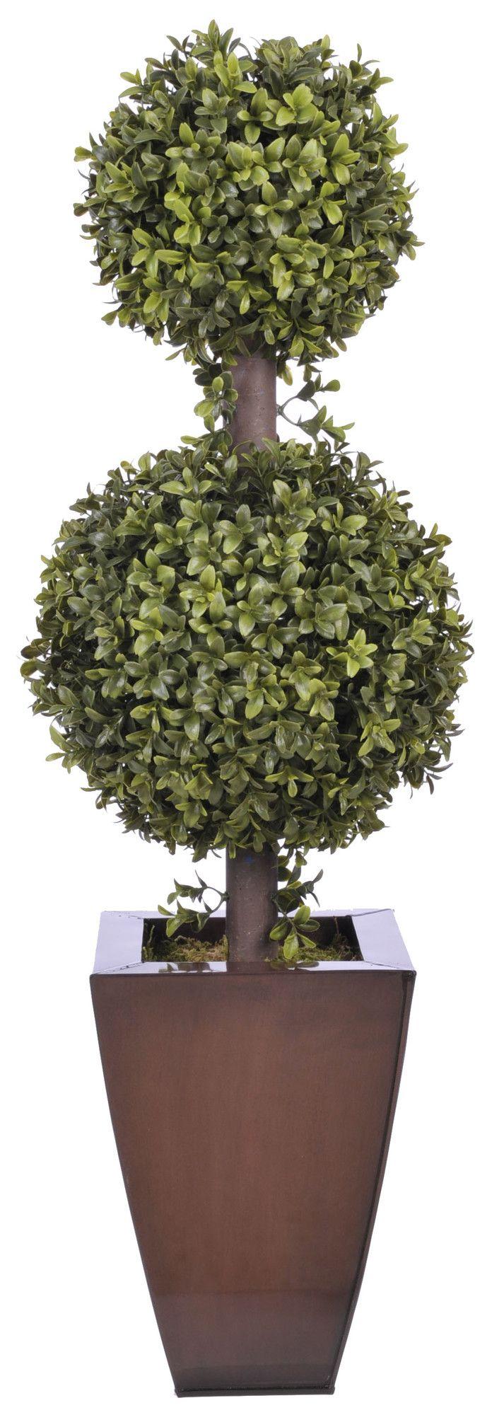 Artificial Double Ball Topiary In Pot Wayfair I Wish I