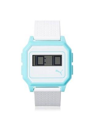 47% OFF PUMA Unisex PU910951008 Flat Screen White/Blue Digital Rubber Watch