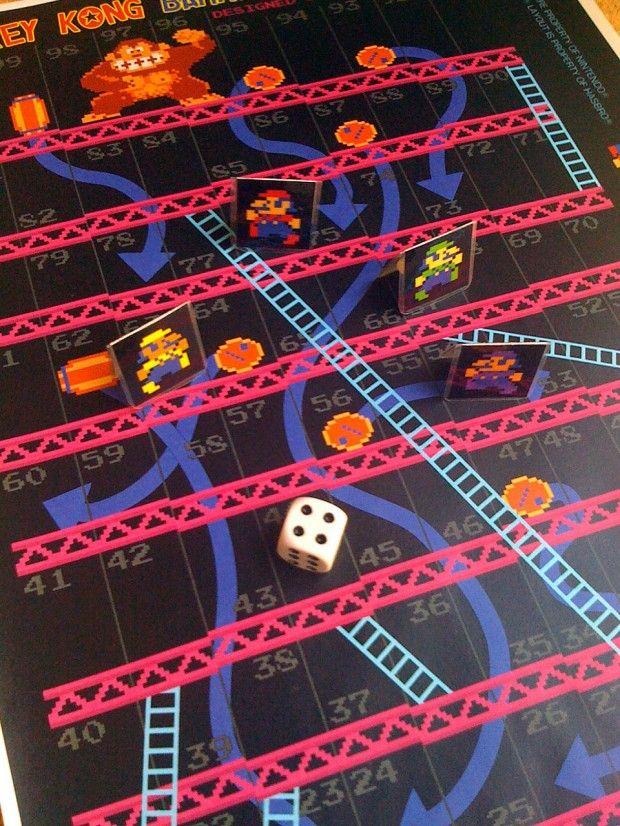 Donkey Kong Chutes & Ladders board game