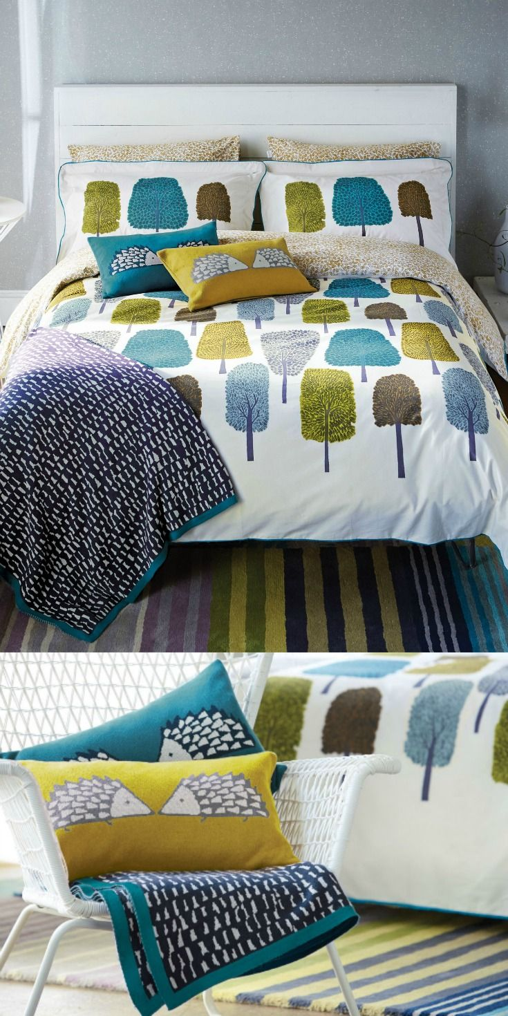 die  besten contemporary duvets ideen auf pinterest  marine  - a fun and contemporary duvet cover featuring trees and leaves in beautifulcolours