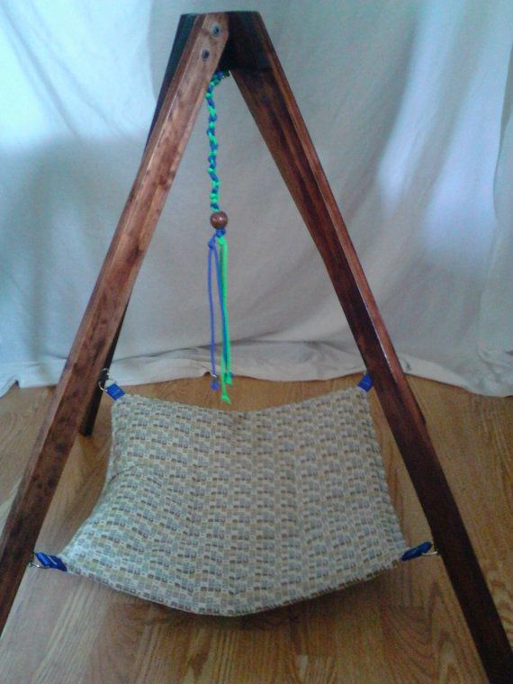 Hanging TeePee Pet Hammock w/ Toy Cat Bed Small Dog by Bark4Bones