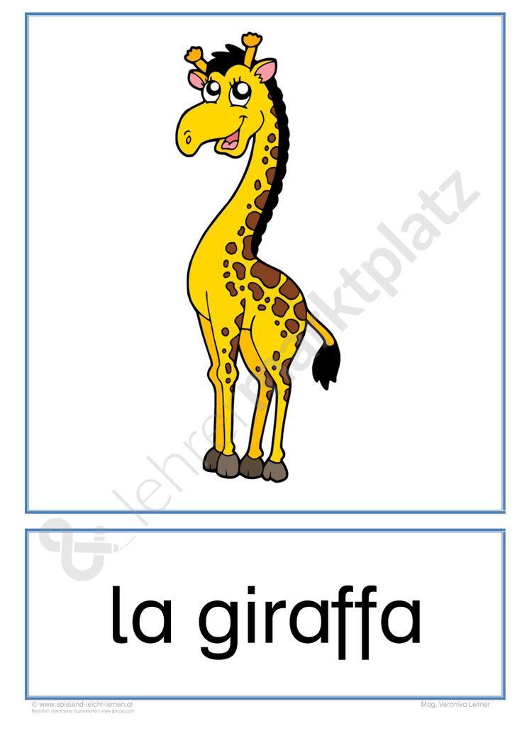 """Flashcards Zootiere """"gli animali dello zoo"""" - Italien *kostenlos*  Möchtest du selbst erstellte digitale Unterrichtsmaterialien kostenlos teilen, verkaufen oder kaufen? Auf www.lehrermarktplatz.de wirst du fündig.  #unterrichtsmaterialien #lehrer #Unterricht #Grundschule #lehrerin #arbeitsblätter #italienisch"""
