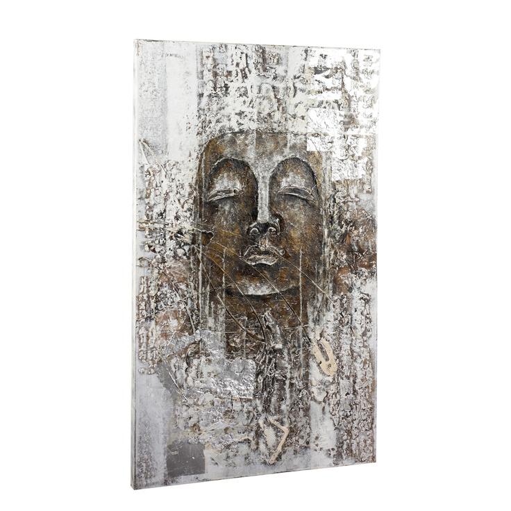 Antique buddha canvas