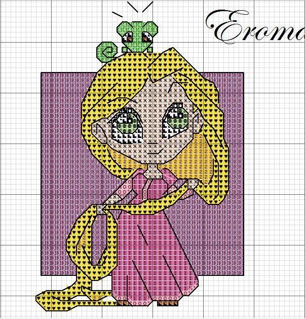 Punto Croce Schema | Punto Croce - Baby Principesse | Pinterest