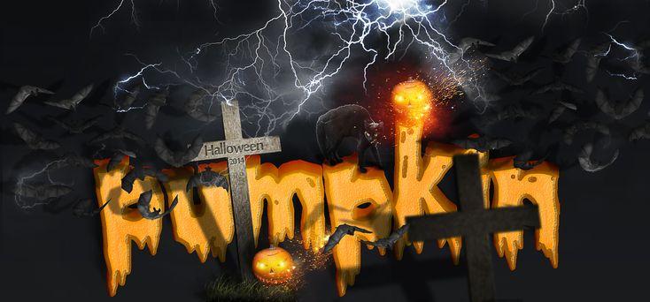 Make a Spooky Halloween Pumpkin Text Effect in Photoshop - Photoshop tutorial | PSDDude
