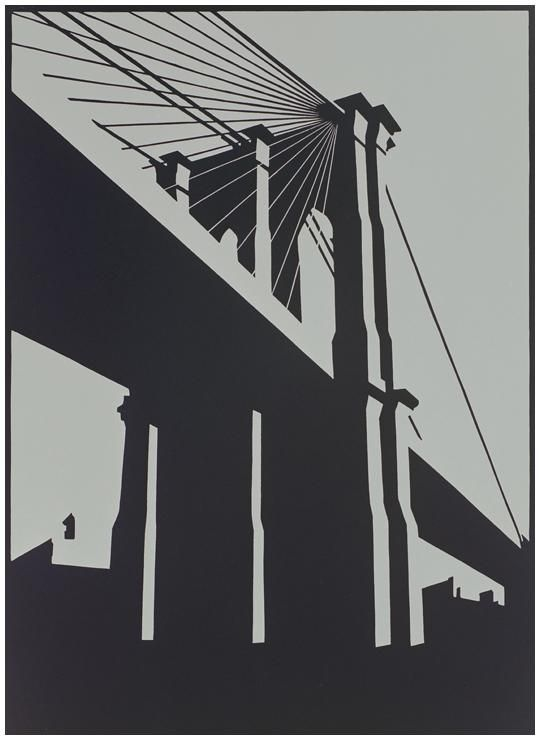 For Arts Sake | Bridges In Art | Brooklyn Black by Paul Catherall