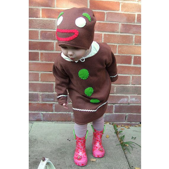handmade Gingerbread Man costume for baby and toddler by GuuGuuGa