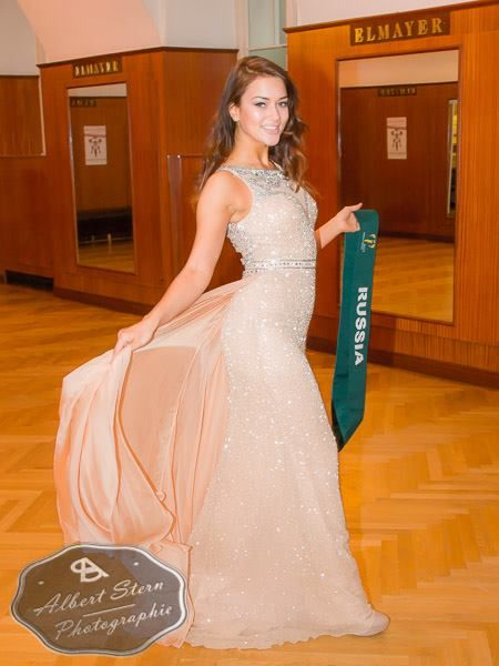 Miss Russia   posing during the evening gown parade as part of the activities of Miss Earth 2015 #Coverage #MissEarth2015 #BeautyPageant #Austria #ZarDeMisses #BeautiesForACause