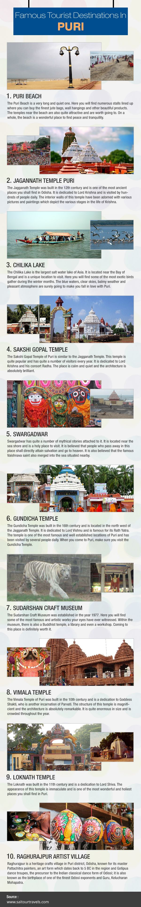 The latest ‪    #Infogrphic    about famous Tourist destinations in ‪         #Puri Created by Sai Tour & Travels  Visit: http://visual.ly/famous-tourist-destinations-puri ‪      #Chandigarh #Mohali #Panchkula #taxiservice #Touroperator #Odisha #Jagannathpuri #India