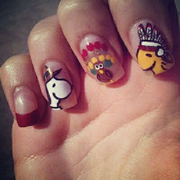 thanksgiving nail art ideas check out wwwmynailpolishobsessioncom for more nail art ideas - Nail Design Ideas 2012