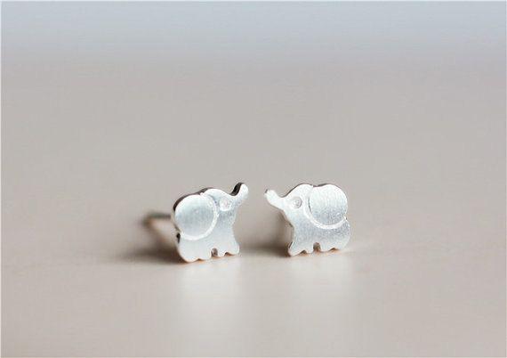 ON SALE Elephant Earrings Silver Elephant by Instyleglamour