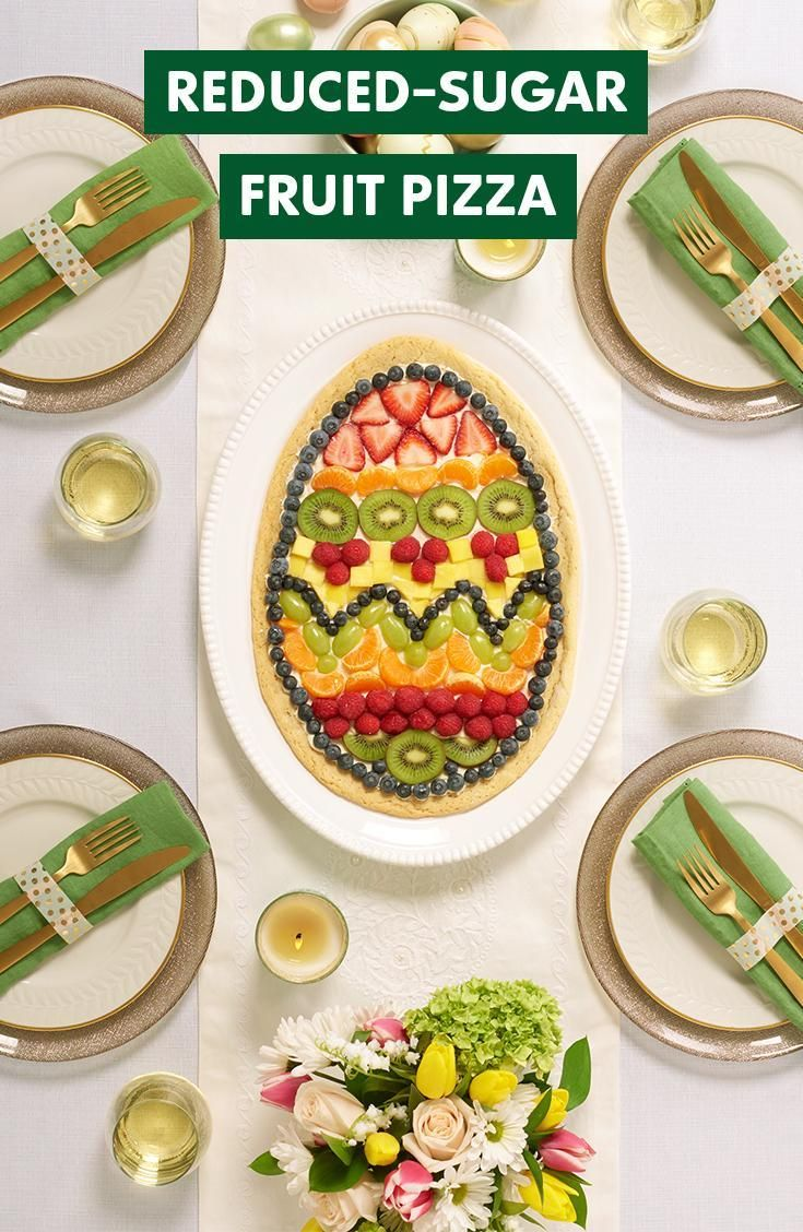 Try a new DIY idea this Easter. Make and decorate a reduced-sugar Fruit Pizza with Truvia Baking Blend. Get the full recipe on Truvia.com.