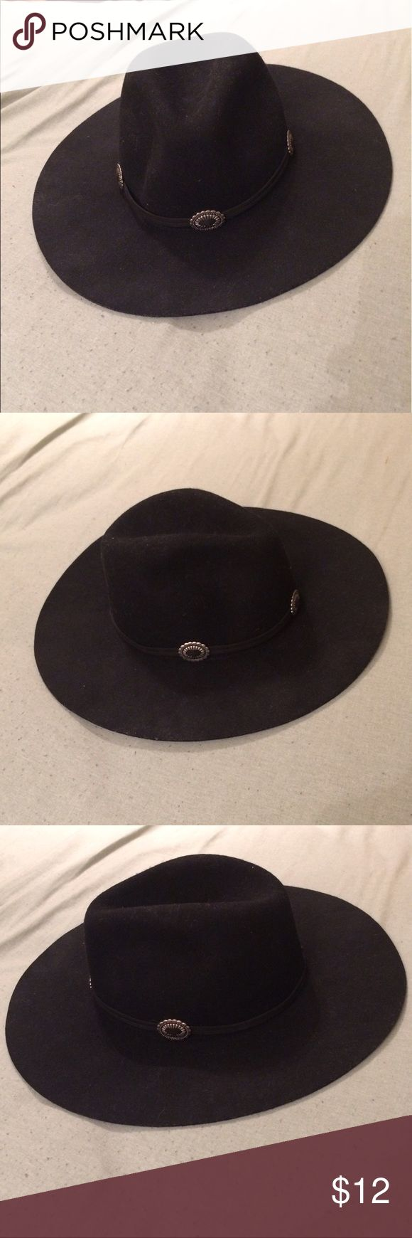 Black Wool Hat - Small NWOT - Cowgirl Inspired Black Wool Hat with Silver Embellishments. Perfect accessory for any outfit ❤️ Size:Small ***Brand Tagged for Exposure*** ModCloth Accessories Hats