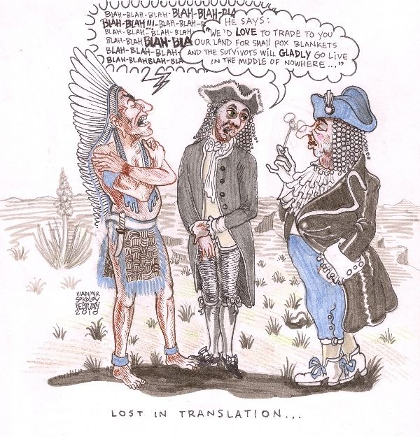 Lost In Translation, #Political, #cartoon, native american