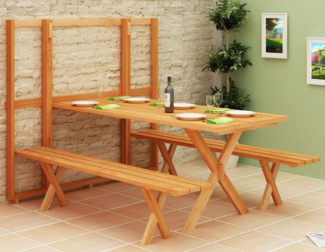 1000 ideias sobre mesa dobravel de madeira no pinterest for Modelos de mesas