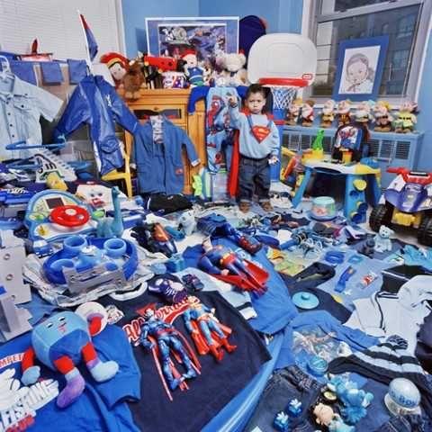 Rosa und Blau Themen Kinder' Zimmer