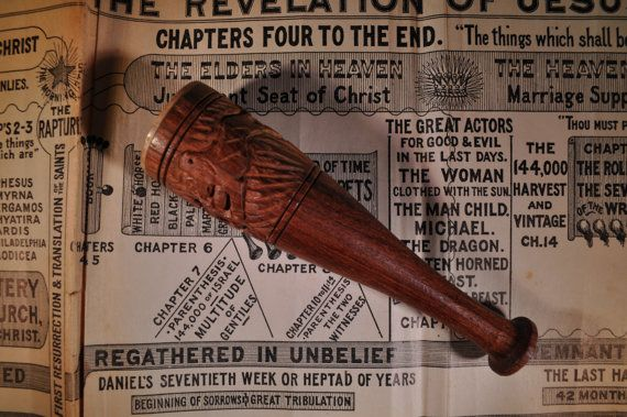 Vintage Hand Carved Indian Chillum Pipe by RustedPulchritude