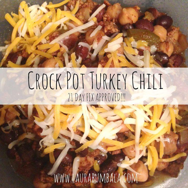 Recipe: 21 Day Fix Crock Pot Turkey Chili