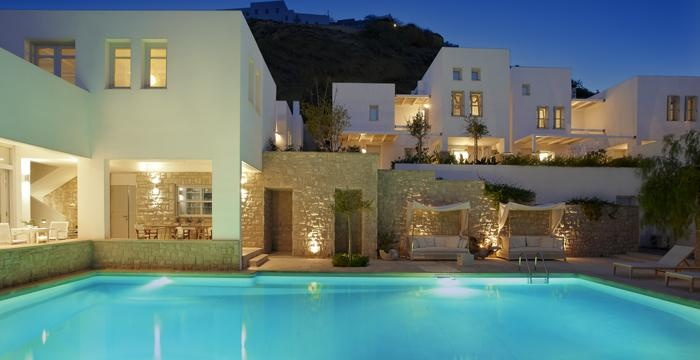 A magical evening by the pool at Ammos Hotel in Skyros