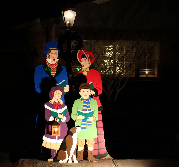 Christmas Carolers Yard Decorations: Dickens-Era Christmas Carolers Wood Standups Woodworking