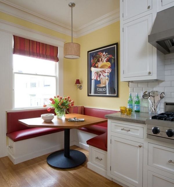 ways of integrating corner kitchen tables in your dcor - Booth Kitchen Tables