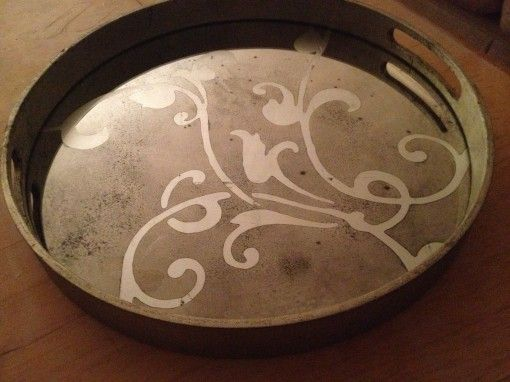 Silver leafed Notre Monde round tray for sale | Covet Living #notremonde #tray #silverleaf