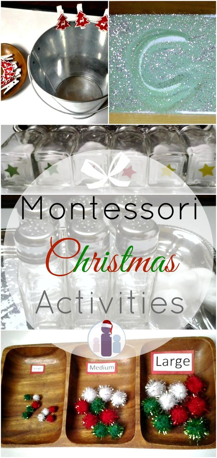 Montessori Christmas Activities! DIY Sensorial, Practical Life, Literacy, and Numeracy based play & learning!