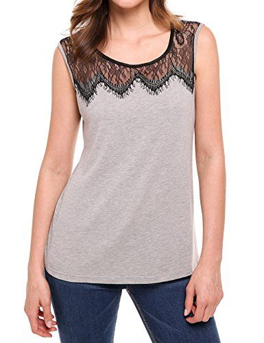 Meaneor Women's Sleeveless Lace Hollow Out Tank Tops T Shirt Gary M   Special Offer: $17.99      100 Reviews Measurements: 1. Use similar clothing to compare with the size.Please kindly check the size below before place order. thank you. 2. Choose One Size Larger if you want loose...
