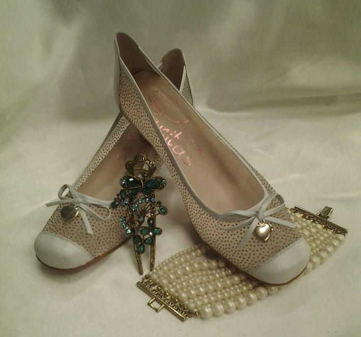 """Beautiful Spanish ANITA'S shoes now in stock. """"RAISIN""""in Beige pictured. Also available in white. Perfect for the #MotherOfTheBride"""