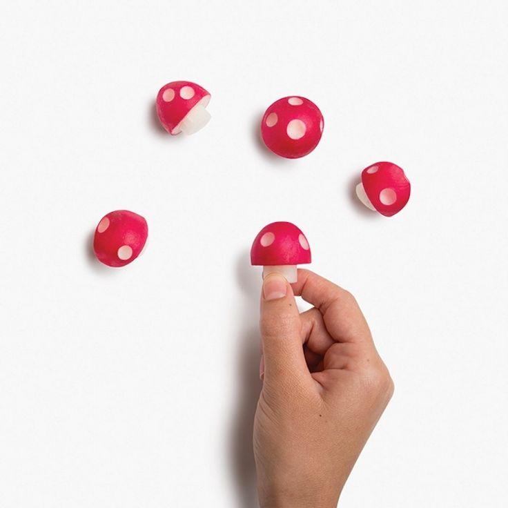 Cet ustensile transforme vos radis en champignons inspirés de Super Mario