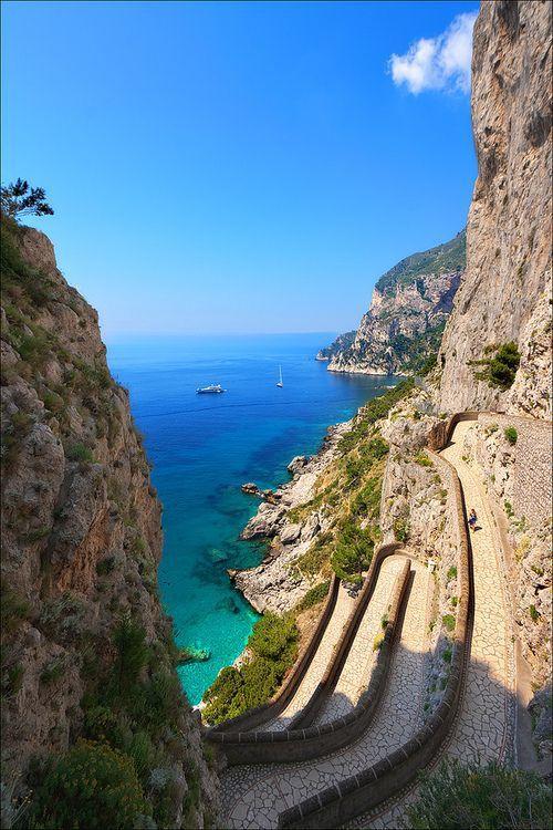 Path To The Sea, Isle of Capri, Italy