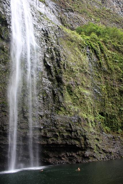 I swam in this waterfall!! Kauai