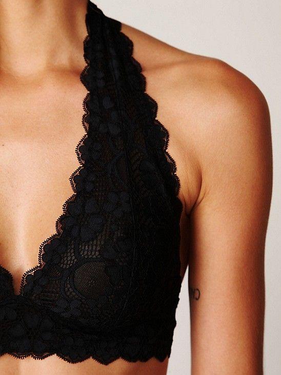 halter top lace bralette