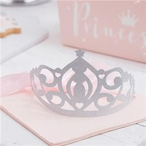 🎉 JUST ADDED - Itty Bitty Party Princess Perfection Silver Glitter Paper Tiaras 👑  VIEW HERE: