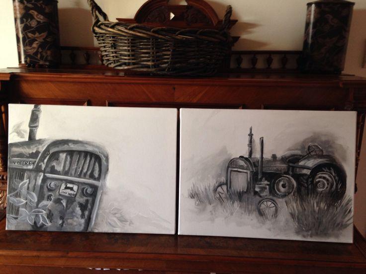 John Deere...watercolor on canvas