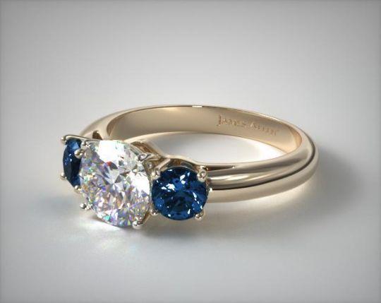 Dark Emerald Engagement Ring On Hand