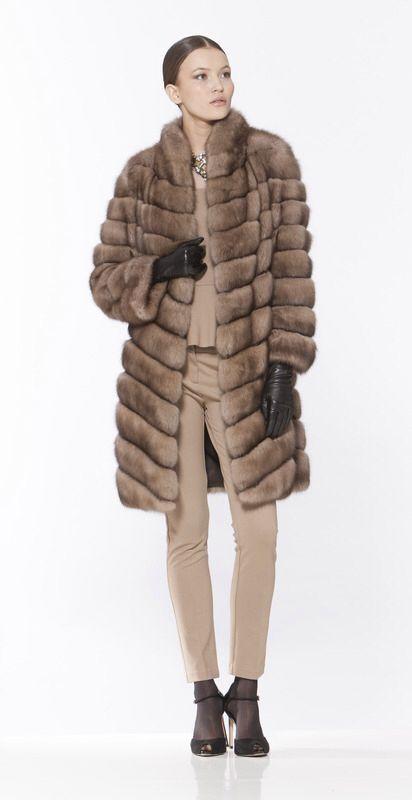 Braschi Tortora Sable Fur Coat