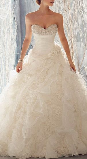 wow, gorgeous wedding dress, just feel like princess