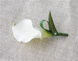Natural Touch Calla Lily Boutonniere: ANY COLOR! Starts at $8