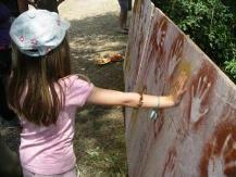 Atelier peinture préhistorique pour enfants